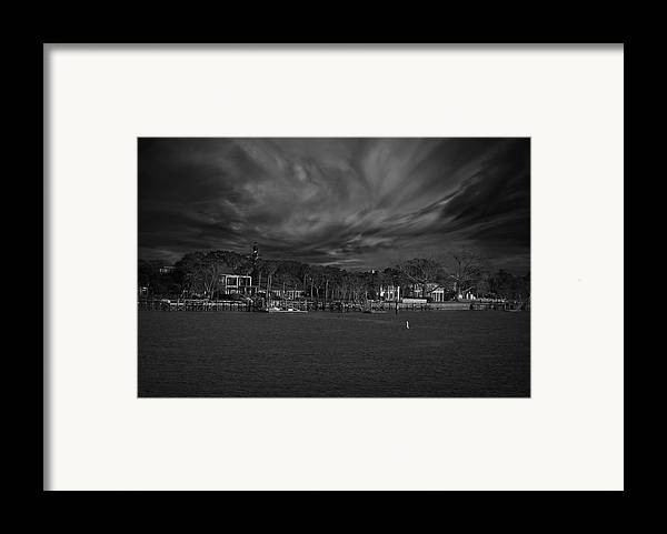 Black And White Framed Print featuring the photograph On The Other Side... by Mario Celzner