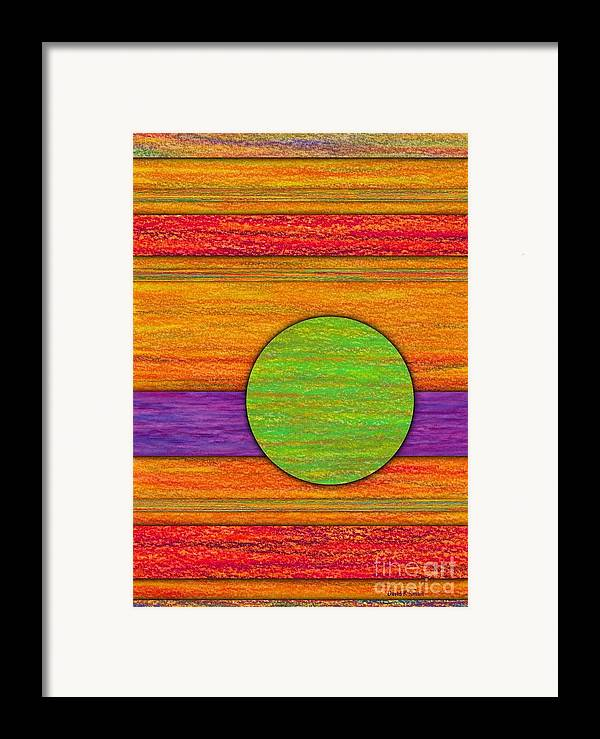 Colored Pencil Framed Print featuring the painting One Appeared by David K Small
