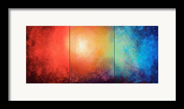 Abstract Framed Print featuring the painting One Verse by Jaison Cianelli