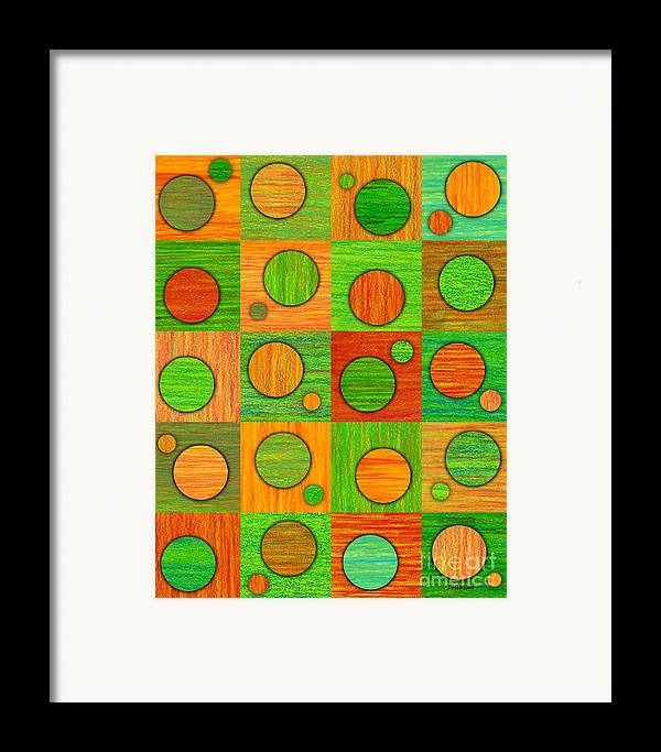 Colored Pencil Framed Print featuring the painting Orange Soup by David K Small