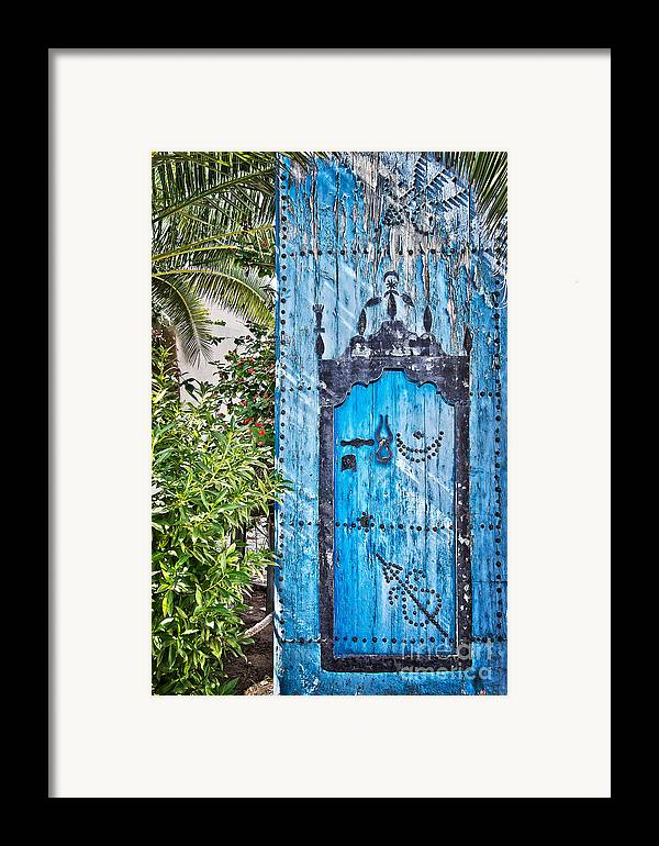 Door Framed Print featuring the photograph Oriental Garden by Delphimages Photo Creations