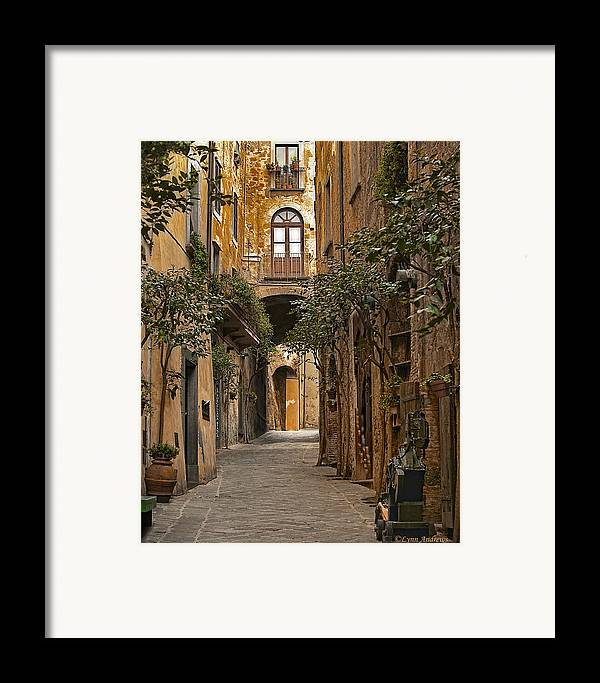Orvieto Framed Print featuring the photograph Orvieto Side Street by Lynn Andrews
