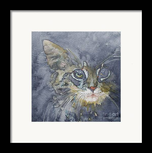 Tabby Framed Print featuring the painting Out The Blue You Came To Me by Paul Lovering