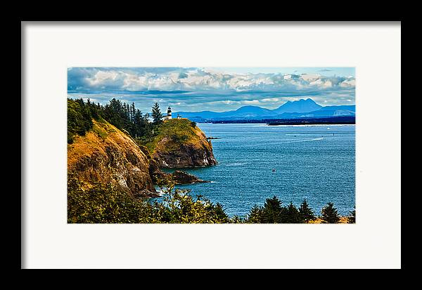 Lighthouse Framed Print featuring the photograph Overlooking by Robert Bales