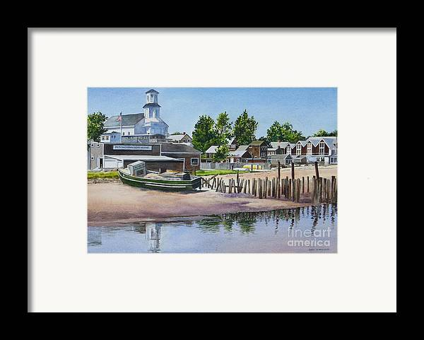 Church Framed Print featuring the painting P' Town Boat Works by Karol Wyckoff