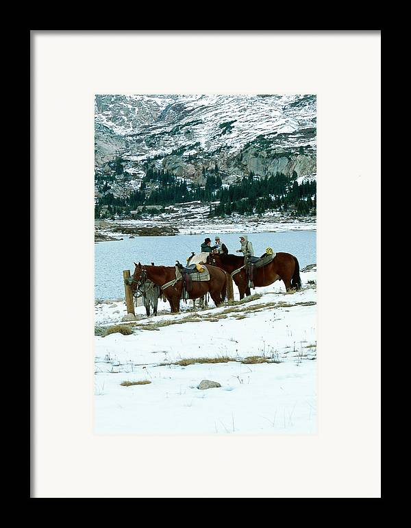 Landscape Framed Print featuring the photograph Packing Up by Eric Glaser