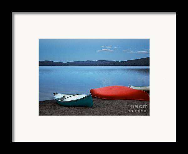 Canoe Framed Print featuring the photograph Paddle's End by Barbara McMahon