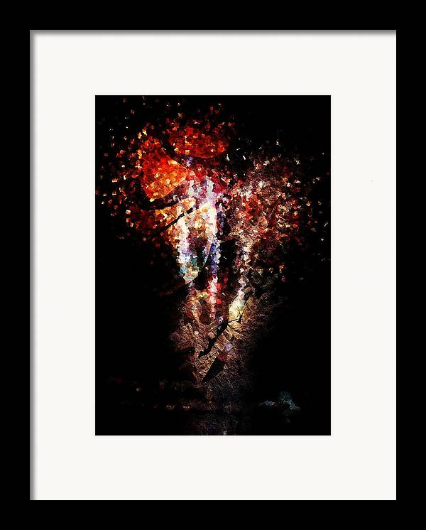 Painted Framed Print featuring the digital art Painted Fireworks by Andrea Barbieri