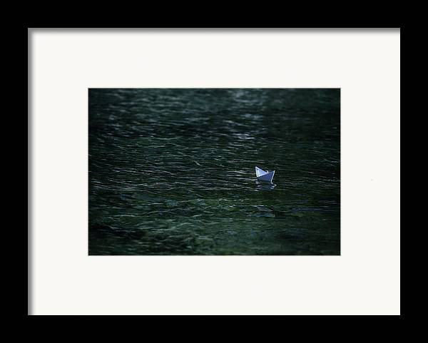 Paper Boat Framed Print featuring the photograph Paper Boat by Joana Kruse