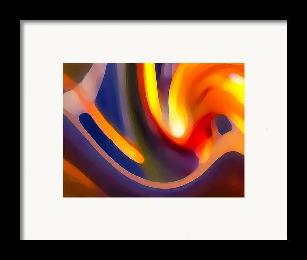 Abstract Art Framed Print featuring the photograph Paradise Creation by Amy Vangsgard