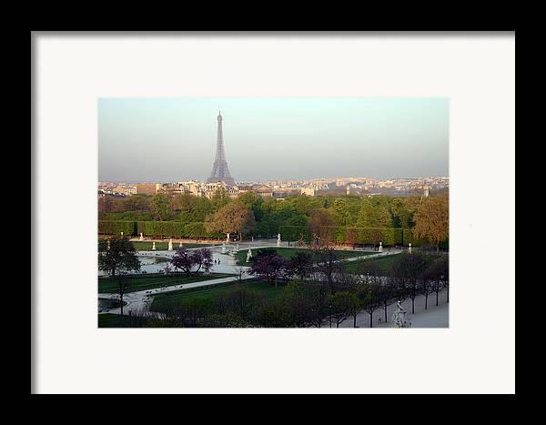 Paris Framed Print featuring the photograph Paris Autumn by A Morddel