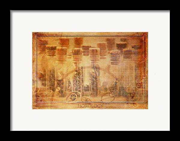 Horology Framed Print featuring the photograph Parts Of Time by Fran Riley
