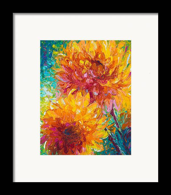 Oil Framed Print featuring the painting Passion by Talya Johnson