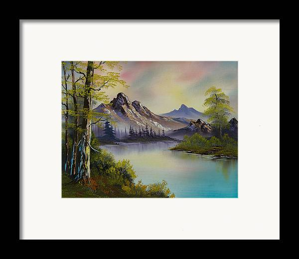 Landscape Framed Print featuring the painting Pastel Skies by C Steele