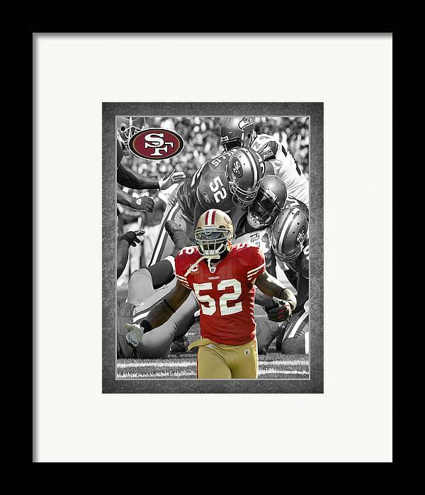 Patrick Willis Framed Print featuring the photograph Patrick Willis 49ers by Joe Hamilton