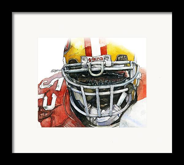 Patrick Framed Print featuring the painting Patrick Willis - Force by Michael Pattison