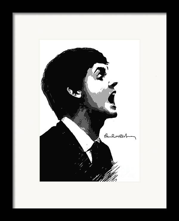 Paul Mccartney Framed Print featuring the digital art Paul Mccartney No.01 by Caio Caldas