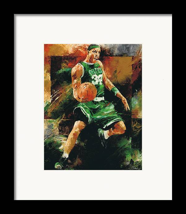 Paul Framed Print featuring the painting Paul Pierce by Christiaan Bekker