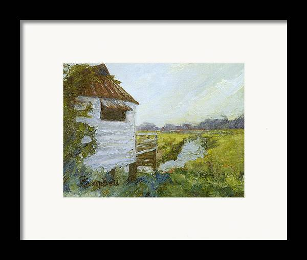 Pawleys Island Framed Print featuring the painting Pawleys Island Yacht Club North by Cecelia Campbell