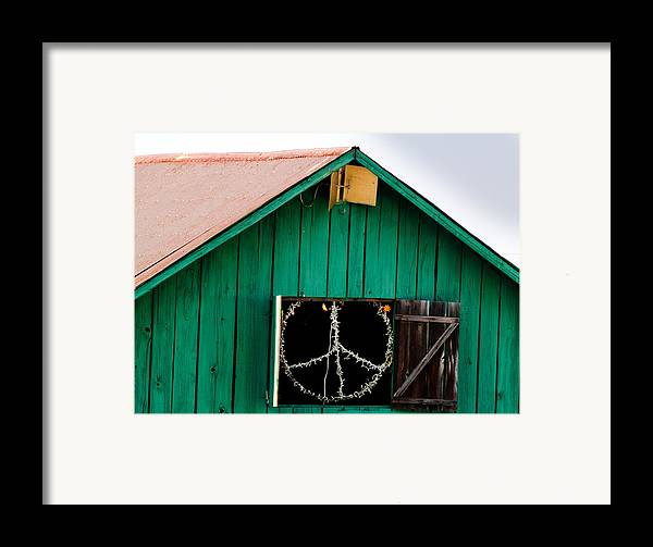 Bliss Framed Print featuring the photograph Peace Barn by Bill Gallagher