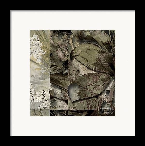 Framed Print featuring the mixed media Peace IIi by Yanni Theodorou
