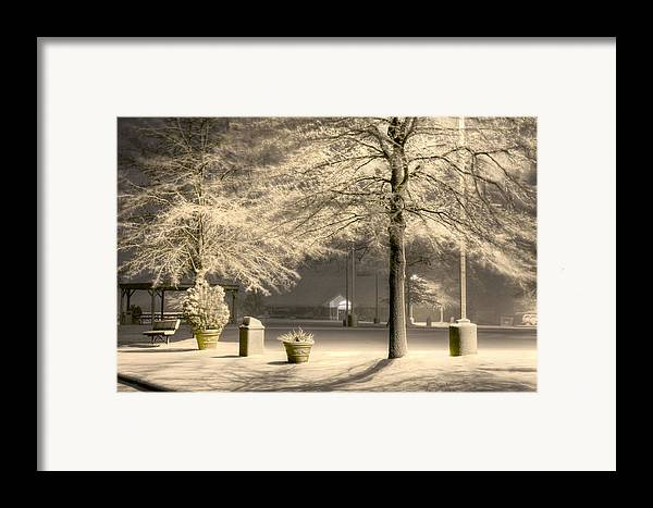 Blizzard Framed Print featuring the photograph Peaceful Blizzard by JC Findley