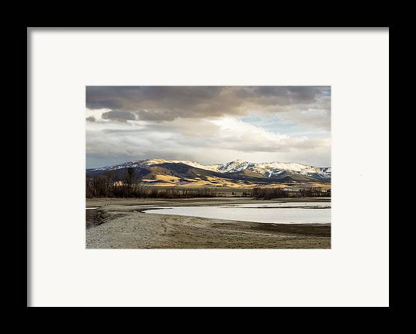 Mountains Framed Print featuring the photograph Peaceful Day In Helena Montana by Dana Moyer