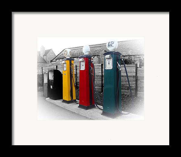 Petrol Station Framed Print featuring the photograph Petrol Station by Roberto Alamino