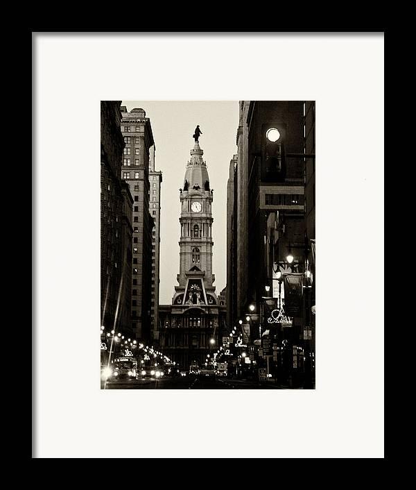 City Hall Framed Print featuring the photograph Philadelphia City Hall by Louis Dallara