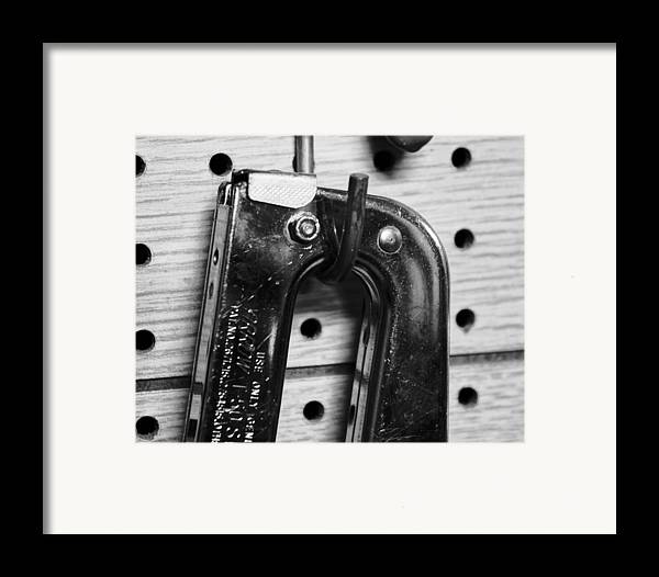 Art Framed Print featuring the pyrography Ping Tool by Anthony Cummigs