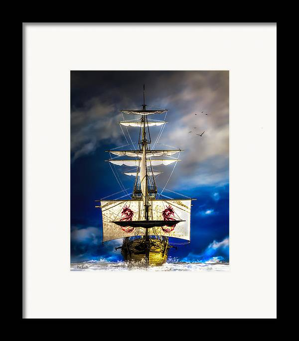 Pirates Framed Print featuring the digital art Pirates by Bob Orsillo