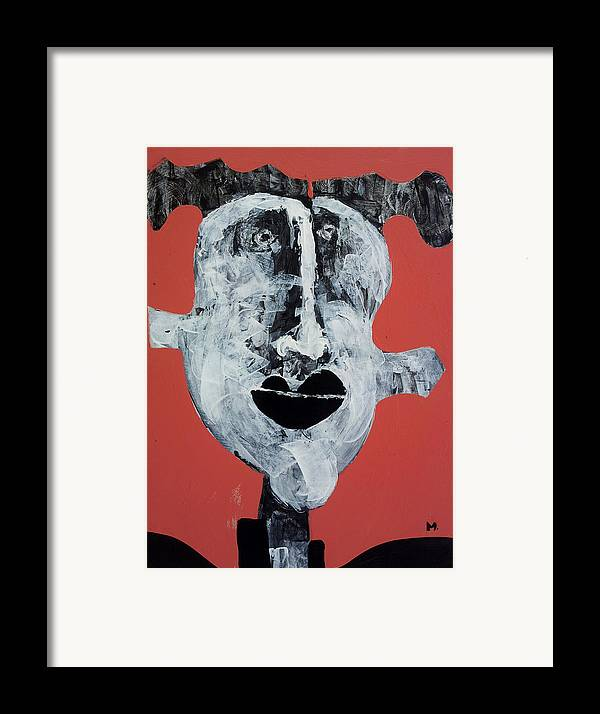 Face Framed Print featuring the painting Piscis No 7 by Mark M Mellon