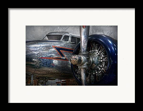 Plane Framed Print featuring the photograph Plane - Hey Fly Boy by Mike Savad