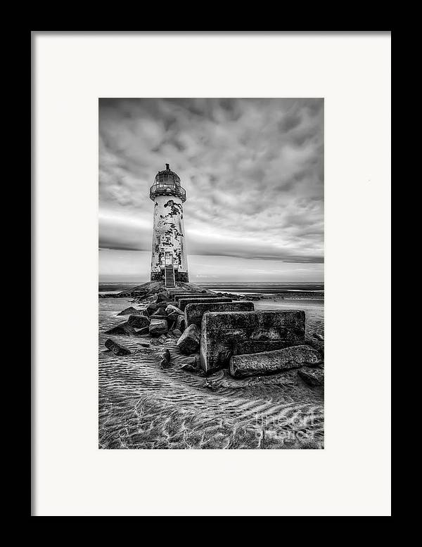 Abandoned Framed Print featuring the photograph Point Of Ayre Lighthouse by Adrian Evans
