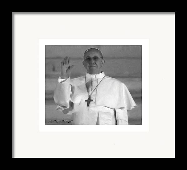 The Pope Framed Print featuring the painting Pope St. Francis I by Wayne Bonney