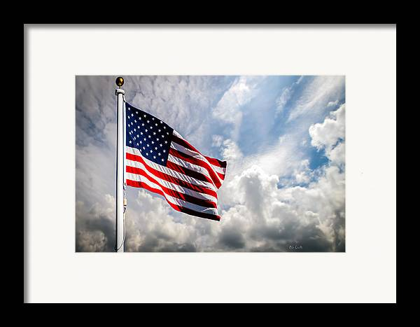 Usa Framed Print featuring the photograph Portrait Of The United States Of America Flag by Bob Orsillo