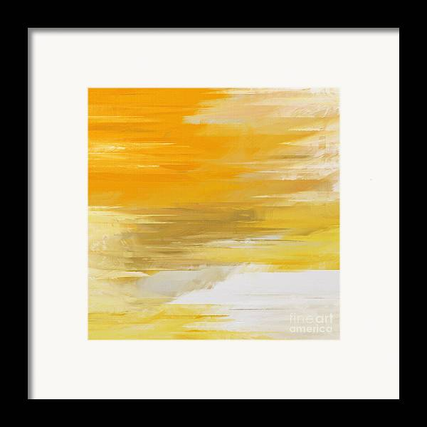 Abstract Framed Print featuring the digital art Precious Metals Abstract by Andee Design