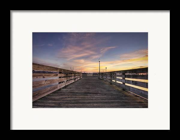 Prescott Park Framed Print featuring the photograph Prescott Park Boardwalk by Eric Gendron
