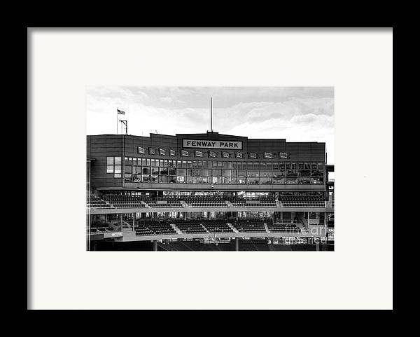 Fenway Park Framed Print featuring the photograph Press Box by Jonathan Harper