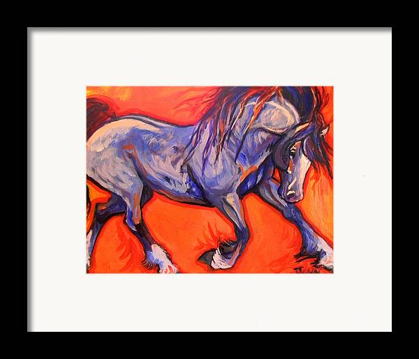 Horse Framed Print featuring the painting Pride by Jenn Cunningham