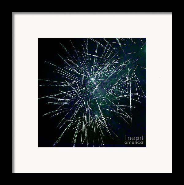 Pyrotechnics Framed Print featuring the photograph Pyrotechnic Delight by John Stephens