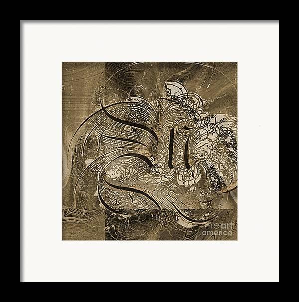 Framed Print featuring the mixed media Q II by Yanni Theodorou