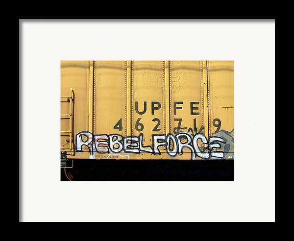 Graffiti Framed Print featuring the photograph Rebel Force by Donna Blackhall