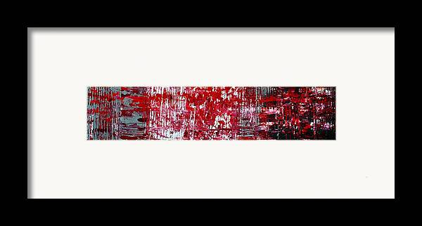 Red Paintings Framed Print featuring the painting Red Grey White And Black by Martina Niederhauser
