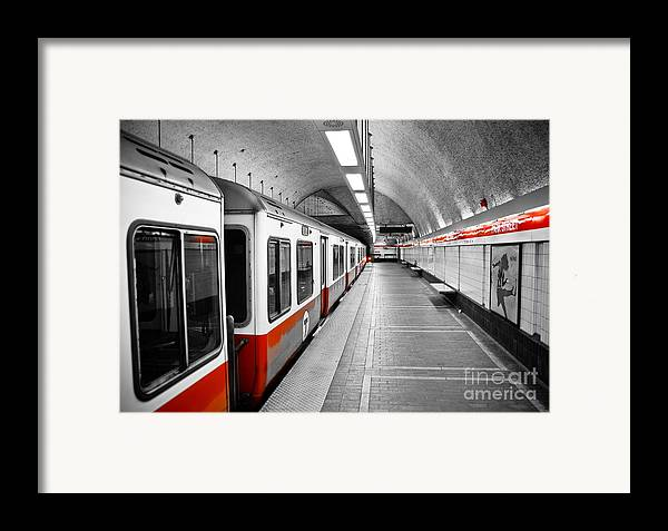Red line framed print by charles dobbs for Red line printing