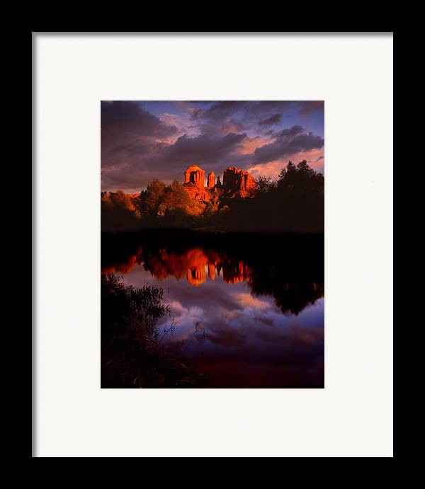 Red Rock Crossing Framed Print featuring the photograph Red Rock Crossing Sedona by Ray Mathis