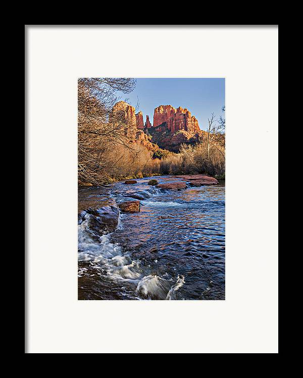 Arizona Framed Print featuring the photograph Red Rock Crossing Winter by Mary Jo Allen