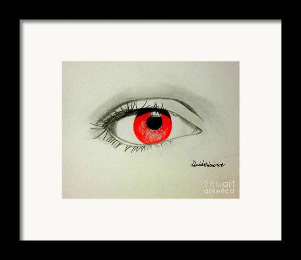 Red Seeker Framed Print by Dominick Hambrick