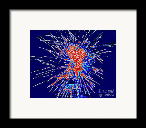 Art Framed Print featuring the painting Red White Blue by Shelia Kempf