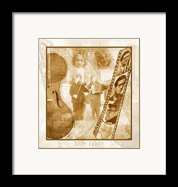 Digital Art Framed Print featuring the digital art Remembrance Of My Father by Gun Legler